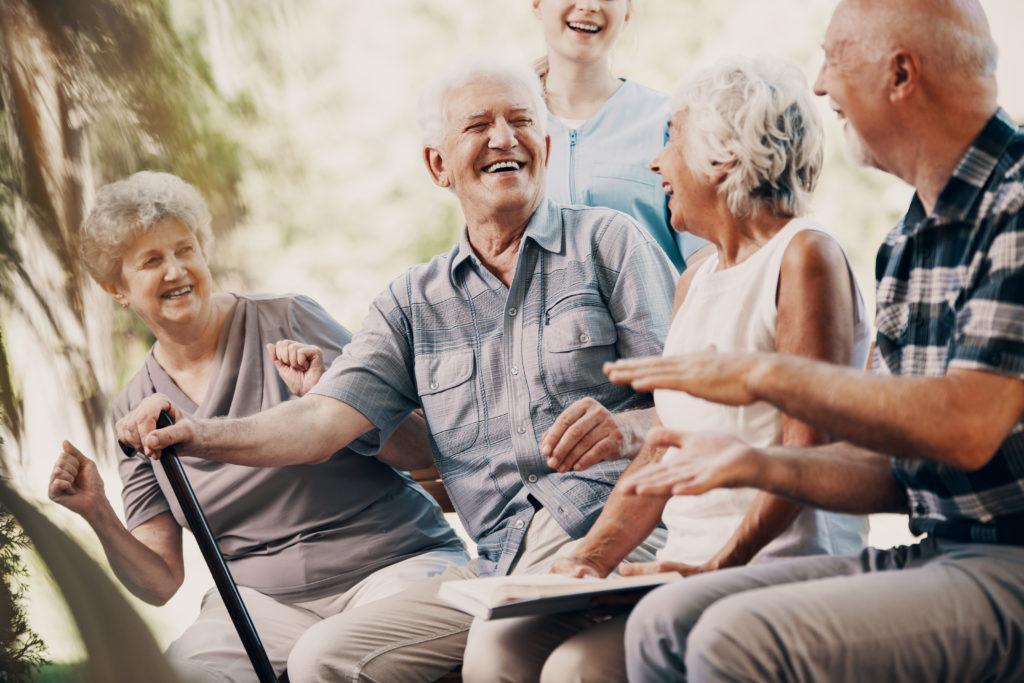 Older, seniors smiling